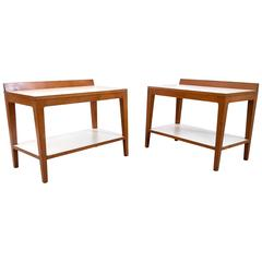 Pair of Beautiful Bedside Tables by Gio Ponti, Italy, Late 1950s