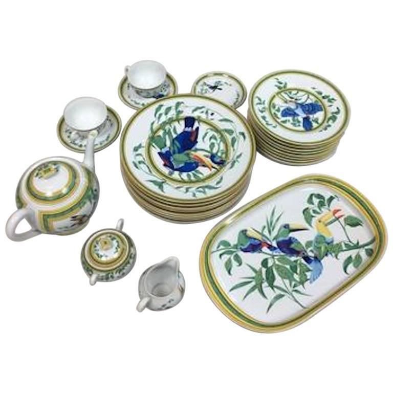Hermes  Toucan  Porcelain Dinnerware Service 25 Pieces ...  sc 1 st  1stDibs & Hermes