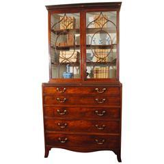 Fine George III Period Mahogany Secretaire Bookcase