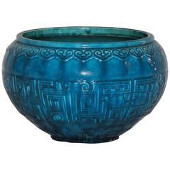 Théodore Deck Blue-Persian Faience Cachepot