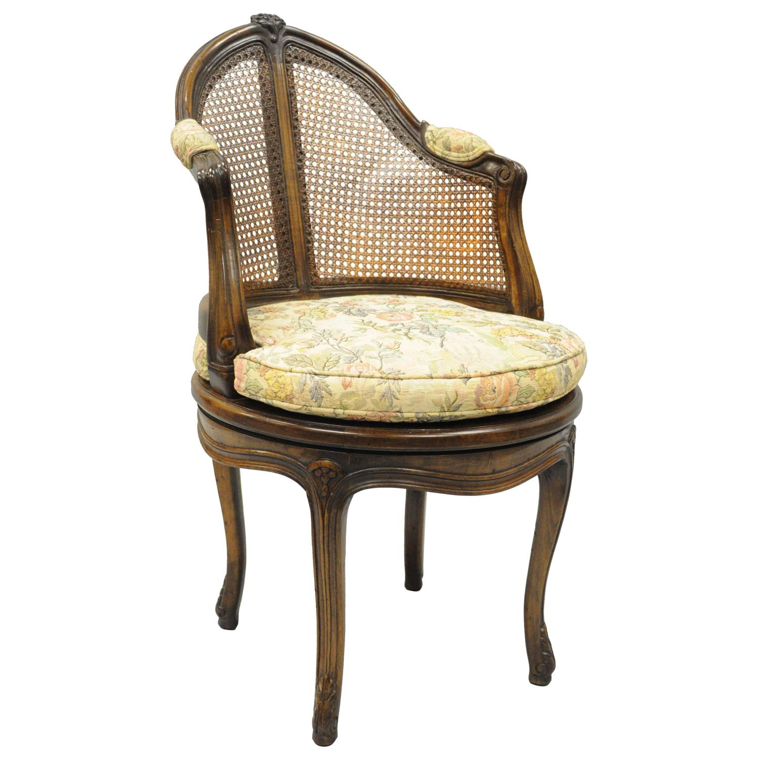 19th Century Painted French Country Style Cane Back Chair at 1stdibs
