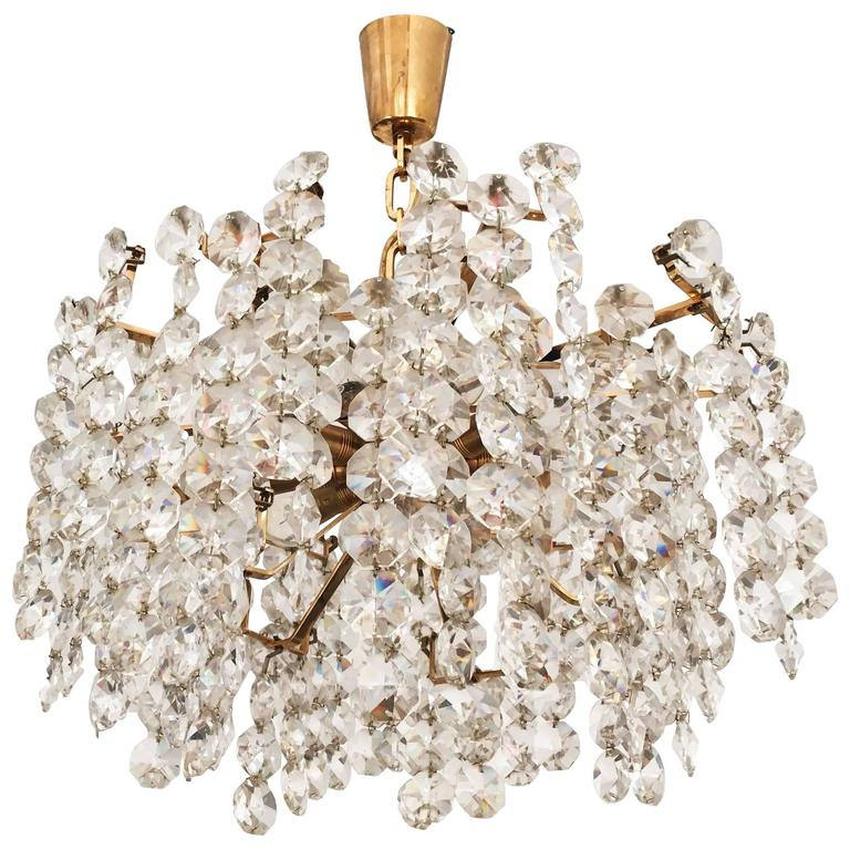 Unique Cut Crystal Chandelier by Bakalowits