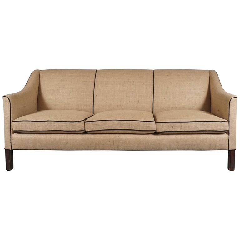 Three-Seat Danish Modern Sofa