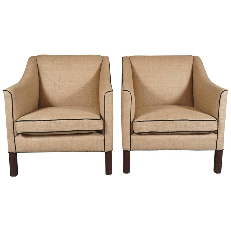Pair of Danish Modern Armchairs 1