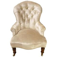 Victorian Period Deep Buttoned Nursing Chair by Gillows of Lancaster