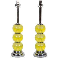 Pair of Mid-Century Murano Glass Lamps