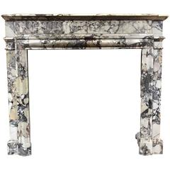 Antique Louis XVI Style Marble Mantel, circa 1870