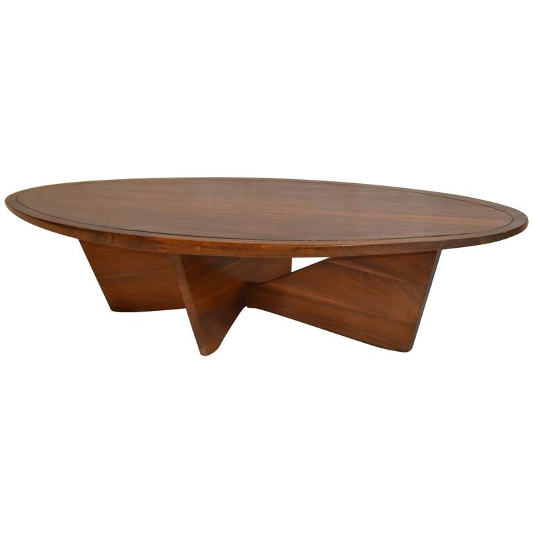 George Nakashima Laurel Coffee Table Bowtie Base Widdicomb Origins 1961 At 1stdibs