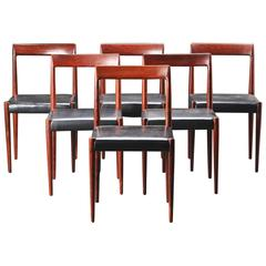 Set of Six Danish Rosewood Dining Chairs