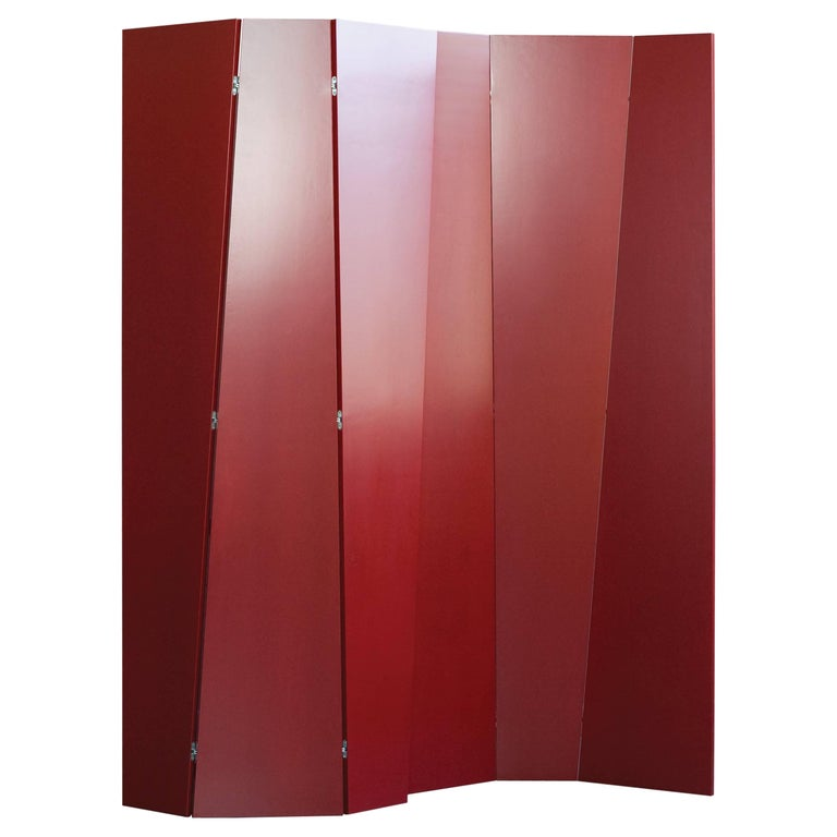Handmade Tri Fold Opaque Lacquer Folding Screen Room Divider For