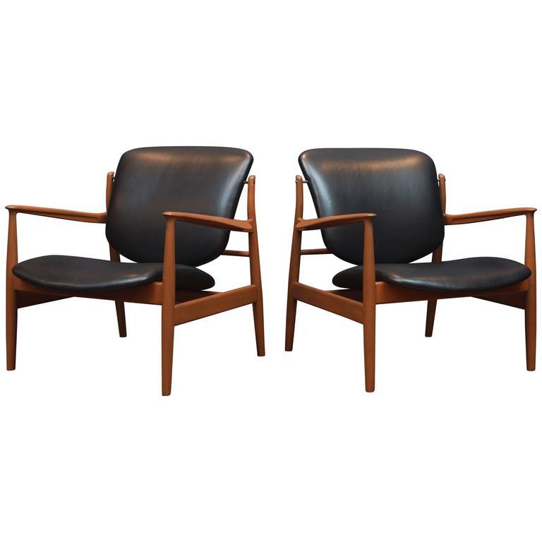 Finn Juhl Lounge Chairs FD 136