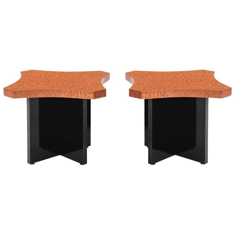 Pair of Roberto Sorrondeguy Side Tables