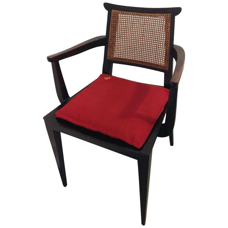 Mahogany Gaming Armchair by Edward Wormley for Dunbar, offered by La Porte For Sale