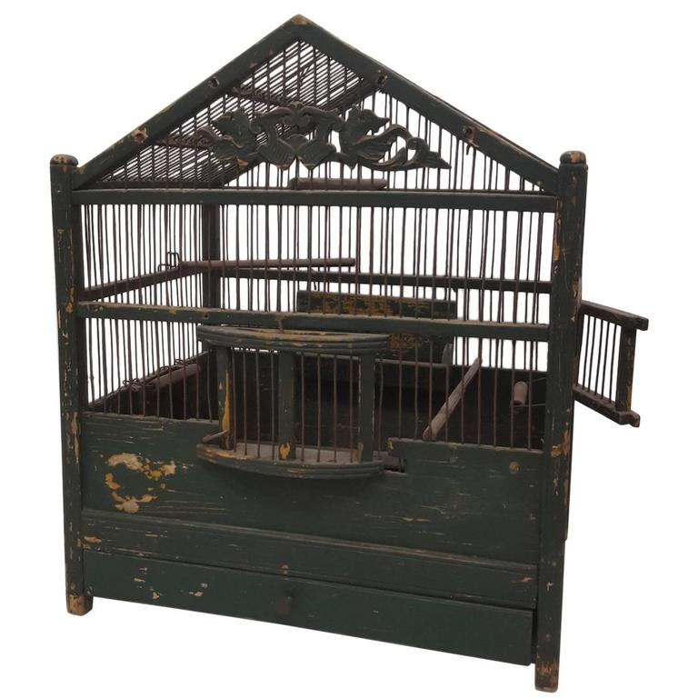 19th Century French Painted Bird Cage