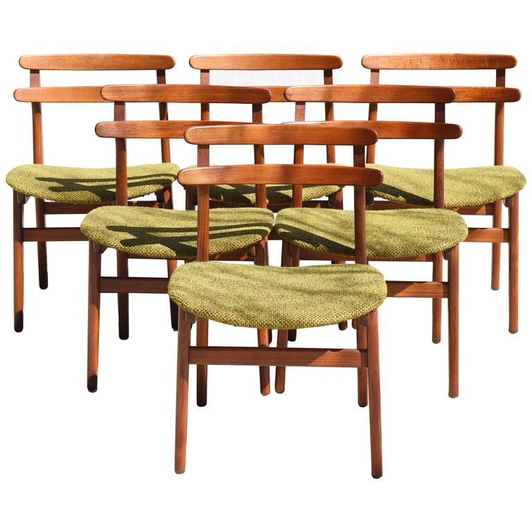 Poul Volther Ladder Back Dining Chairs, Set of Six