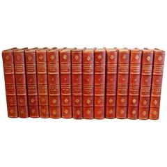 Works of Theodore Roosevelt 14 Leather-Bound Volumes