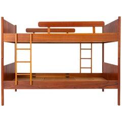 Scandinavian Modern Bunk Beds with Nightstands by Westnofa