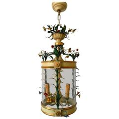 Gilt and Lacquered Floral Lantern
