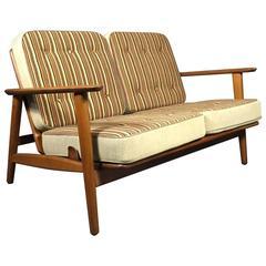 Hans Wegner GE-233 Two-Seat Sofa, Designed 1952, GETAMA
