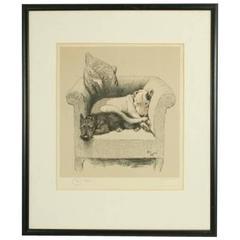 Cecil Aldin Dog Print, Weight Will Tell