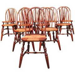 6 Nichols & Stone Windsor Dining Chairs, USA, 1930s
