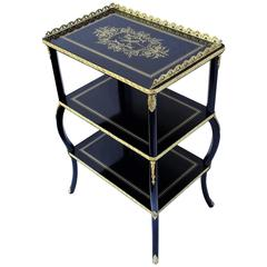 Charming 19th Century Napoleon 3 Marquetry Table, France