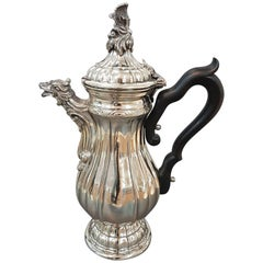 20th Century Italian Silver Coffeepot Venetian revival