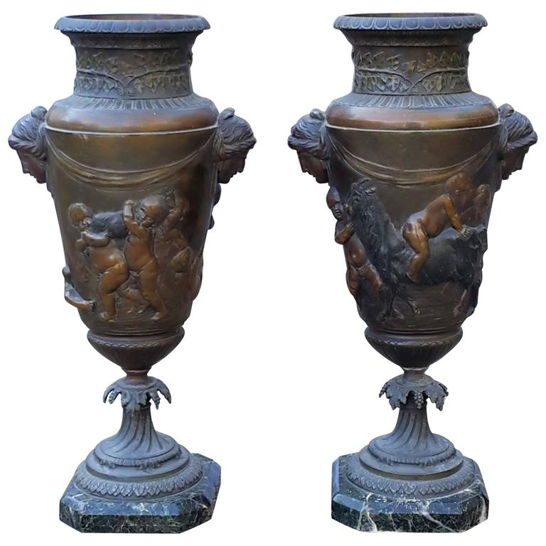 Pair of garden jardini res in napoleon iii style france for Jardiniere napoleon 3
