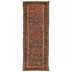 Antique Handmade Persian Kurdish Runner Rug