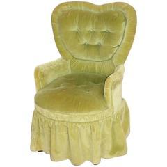 Green Velvet Vanity Chair