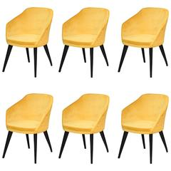 High Quality Armchairs, shown inYellow Velvet,Italian manufacturer. No minimum.