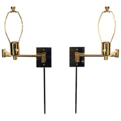 Hansen Mid-Century Modern Swing Arm Wall Sconces