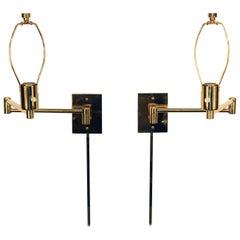 Hansen Mid-Century Modern Swing Arm Wall Sconces