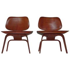Eames Pair of Red LCW's with Evans Labels