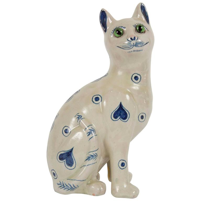 Ceramic Cat by Emile Galle