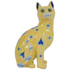Emile Galle Ceramic Cat