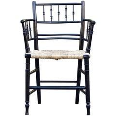 William Morris & Co Ebonized Arts and Crafts Sussex Armchair