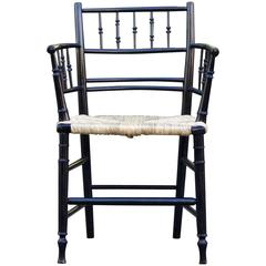 William Morris & Co Ebonized Arts and Crafts Sussex Armchair