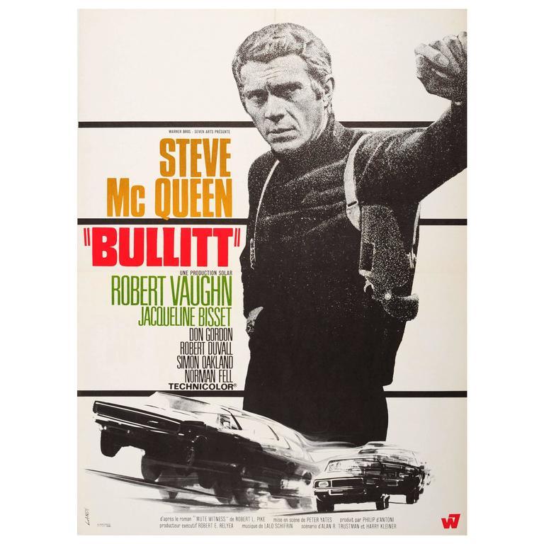 Original Vintage Movie Poster for the Cult Film Bullitt ...