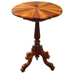 19th Century Tobagonian Specimen Wood Tripod Table Made for 1885 Exhibiti
