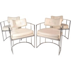 Set of Mid-Century Modern Dining Chairs in the Style of Milo Baughman