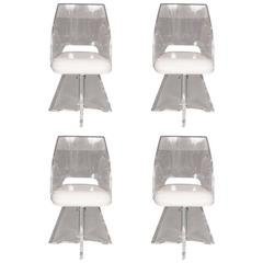 Lucite Swivel Chairs by Vladimir Kagan