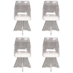 Lucite Swivel Chairs by Vladimir Kagan