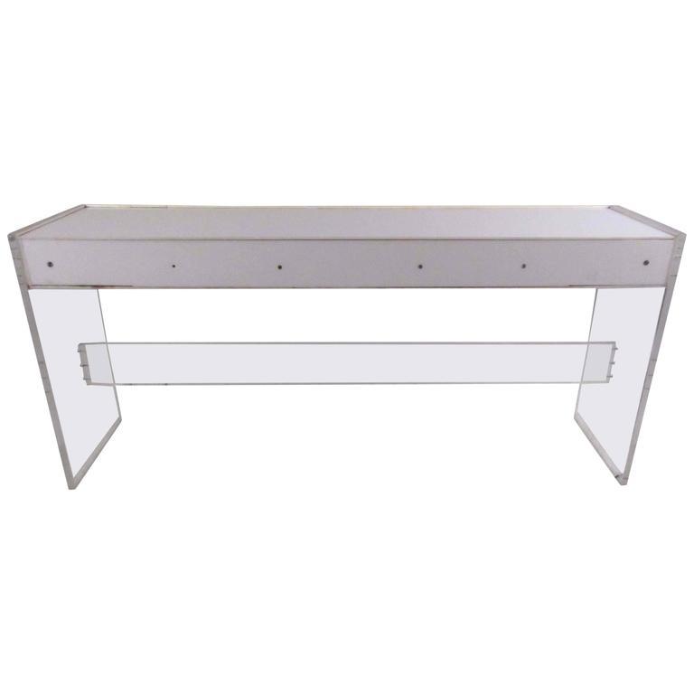 Mid-Century Modern Acrylic Lightbox Console Table