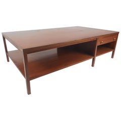 Mid-Century Modern Walnut Coffee Table in the Style of Paul McCobb
