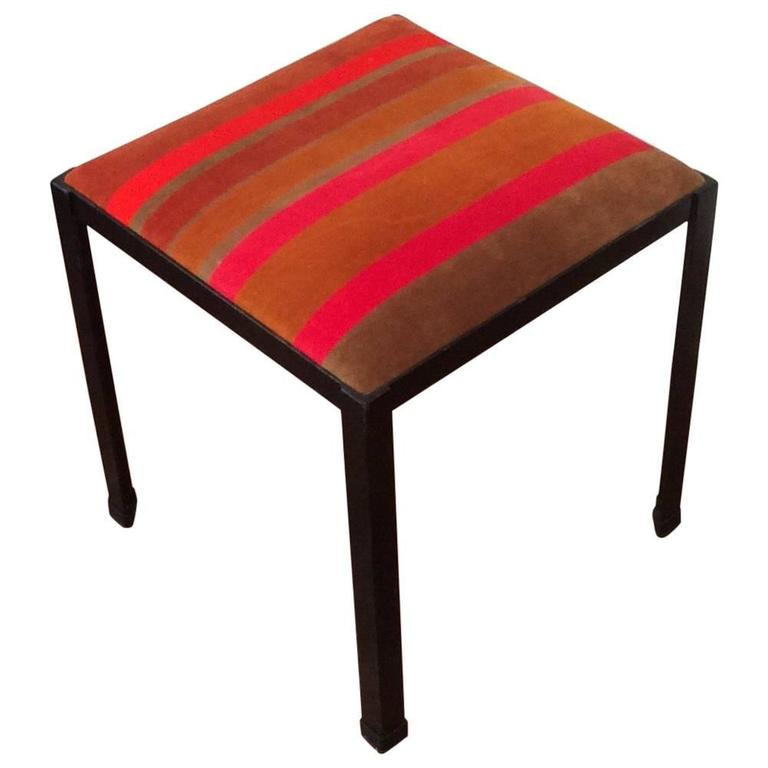 Iron Stool By Danny Ho Fong Upholstered In Vintage Jack