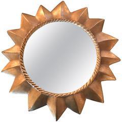Little Giltwood Star Mirror by William Harvey Studio