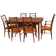 Vintage Mid-Century 1960s Niels Kofoed  Chairs and Extension Table