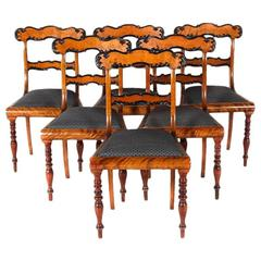 Mid-19th Century English Ebony and Satin Birch Chairs