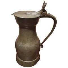 English Pewter Flagon or Tankard, 18th Century